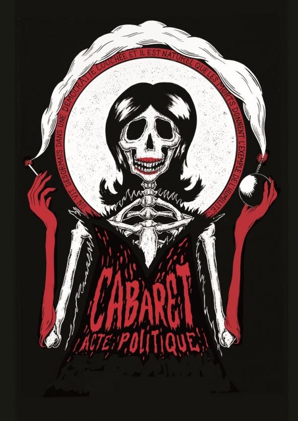Affiche du Cabaret Acte Politique juin 2016, Théâtre du Fil, Genève