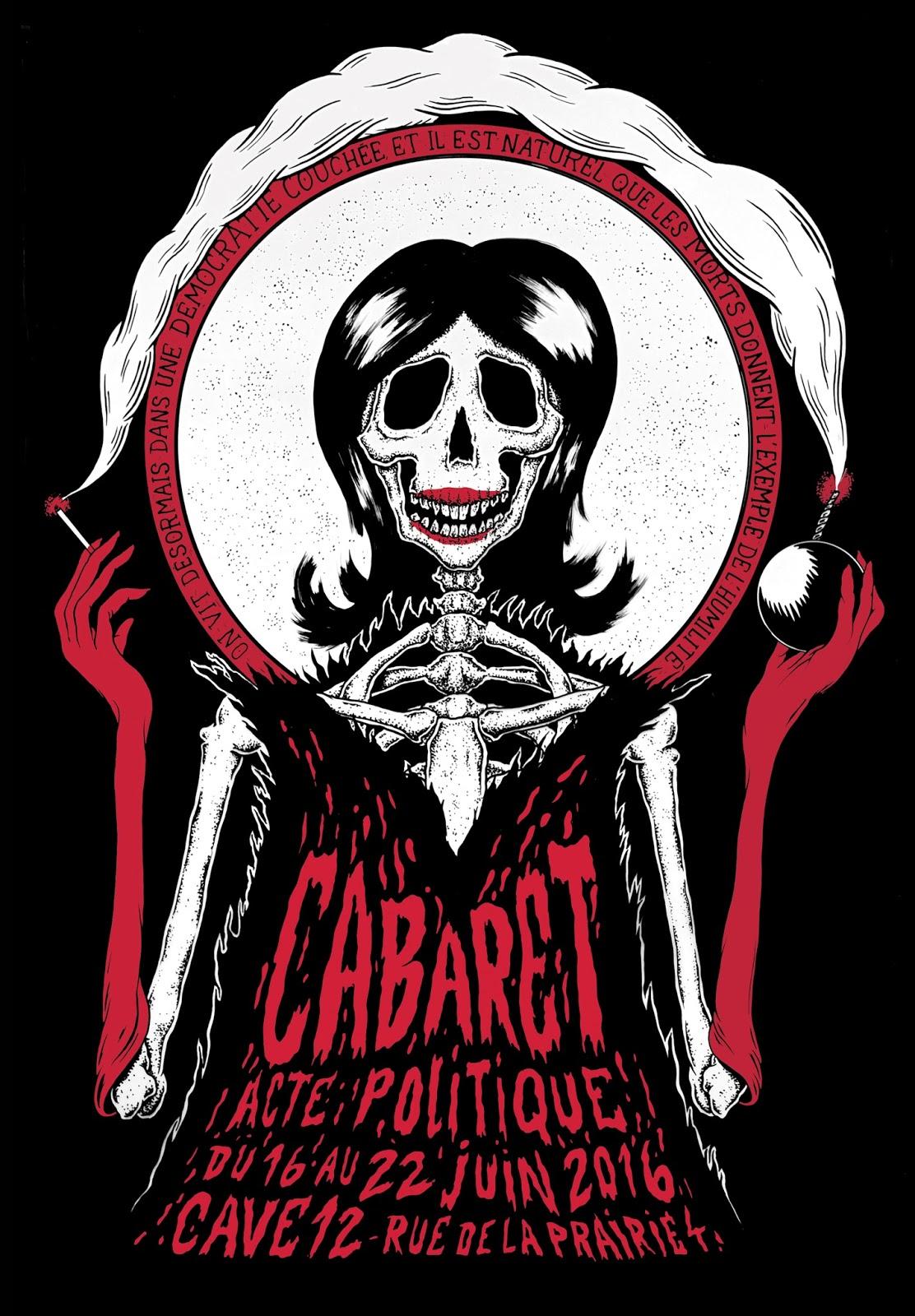 Affiche Cabaret'Acte politique, Téâtre du FIl, Loulou, Genève